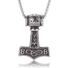 stainless steel chains cute Pendant necklaces men punk vintage necklace women unisex Jewelry gifts BB0431