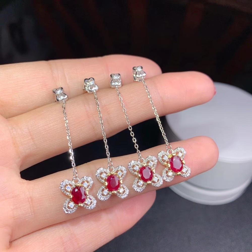 Super beautiful ruby earrings. Bright colors. Pigeon blood red, 925 pure silver. Inclusion certificate