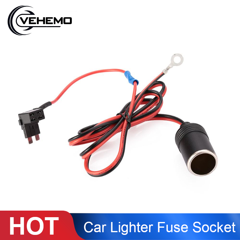 1M 1.5mm DC12V <font><b>Car</b></font> Cigarette Cigar <font><b>Lighter</b></font> Female Socket Cable ATC Fuse Holder image