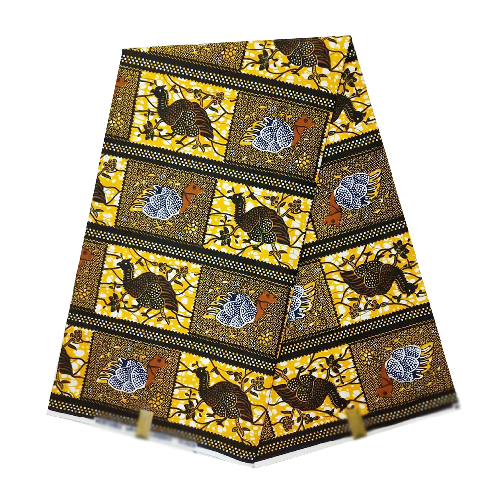 African Tissus Real Dutch Wax Pagne Wax African Ankara Beautiful Prints Fabric 100%Cotton Sewing Material For Party Dress Making