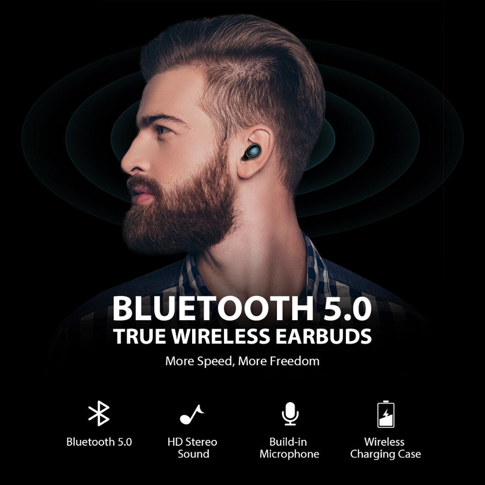 Image 2 - Mpow T2 Wireless Earbuds Bluetooth 5.0 In ear Stereo TWS Earphones Mini Portable Earpieces With Built in Mic For iPhone AndroidBluetooth Earphones & Headphones   -