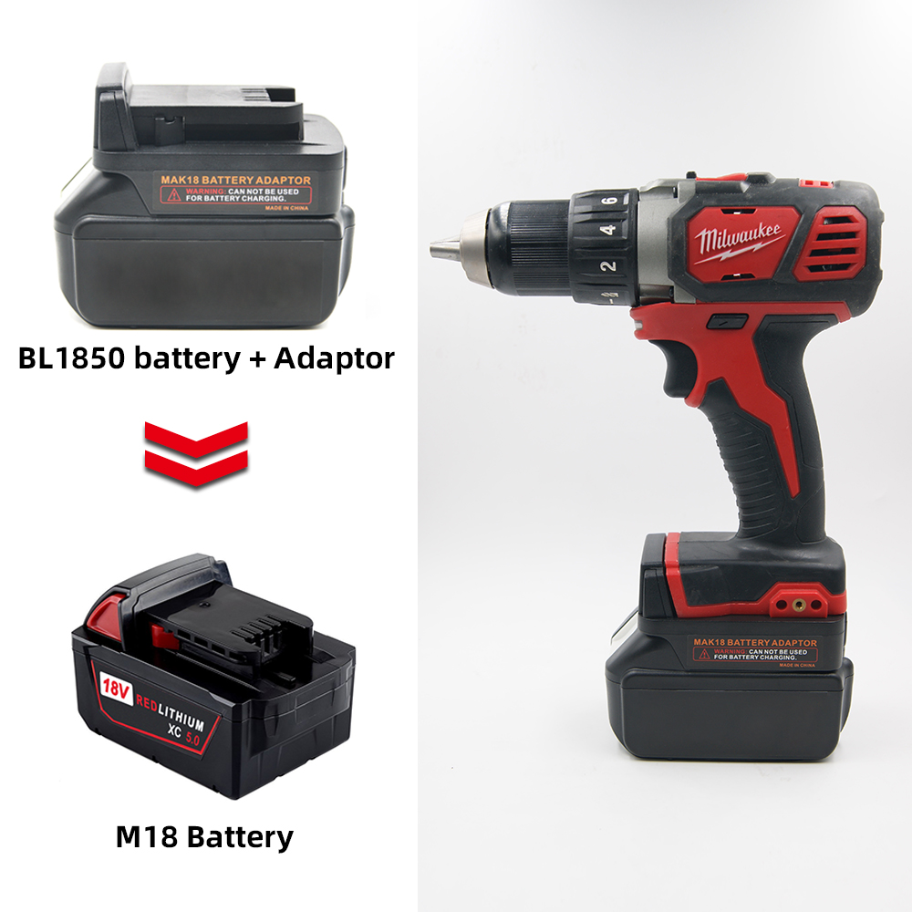 Battery Converter For Makita 18V BL Series Lithium Battery Convert To Milwaukee M18 18V Battery Power Tools Batteries Adapter