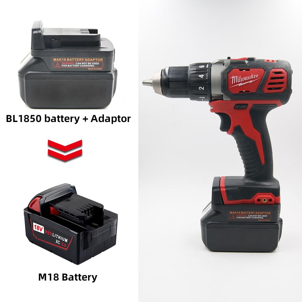 Battery Converter For Makita 18V BL Series Lithium Battery Convert To Milwaukee M18 18V Battery Power Tools Batteries Adapter