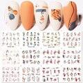 Harunouta 12 лаков для ногтей из воды Стикеры DIY сексуальная девушка нейл-арта Бумага украшение в виде цветов и листьев, с водяным знаком горлышко ...