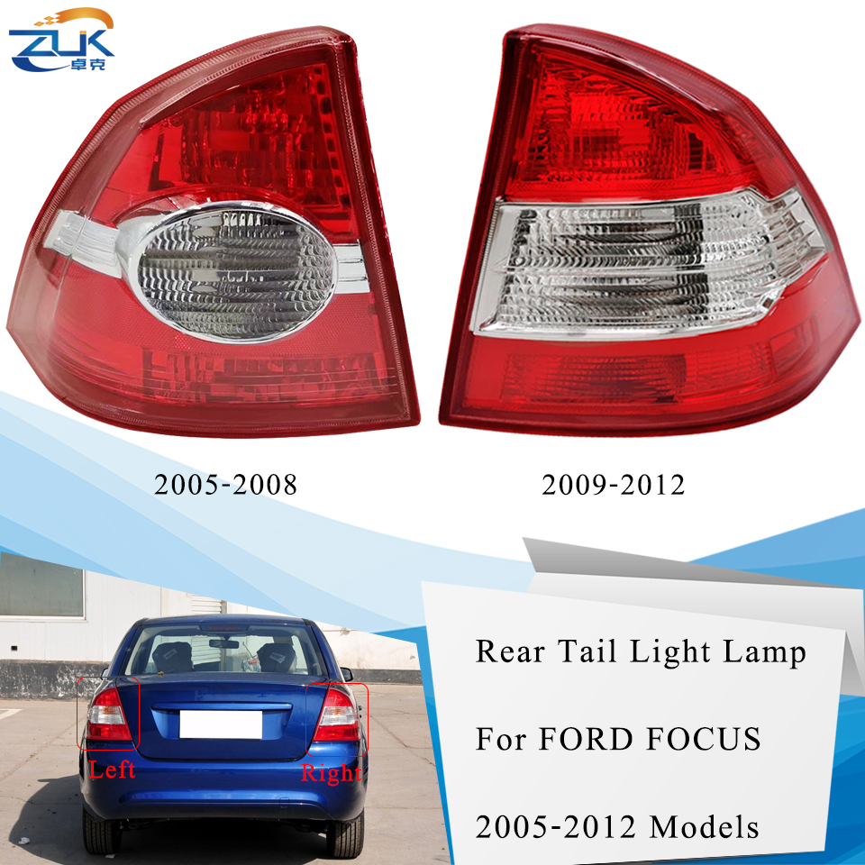 ZUK Tail Light Tail Lamp Taillamp Assy Rear Brake Light Stop Lamp For <font><b>Ford</b></font> <font><b>Focus</b></font> Sedan / Saloon 2005-2013 Rear Bumper Lamp image
