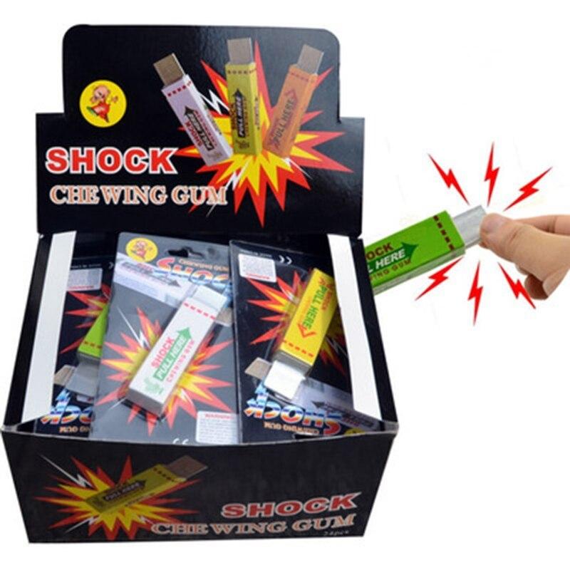 3Pcs Electric Shocking Gum Toy Shock Joke Gadget Prank Funny Trick Gag Gift