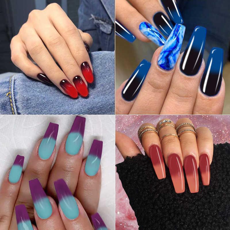 Mizhse 7 Ml Thermo Changing Gel Nail Thermische Kleurverandering Uv Gel Lak Manicure Lucky Nail Art Chameleon Nail Gel vernissen