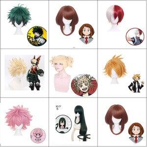 My Hero Academia akademia boku no Hero shoto todoroki Shouto OCHACO URARAKA Midoriya Izuku peruka do cosplay