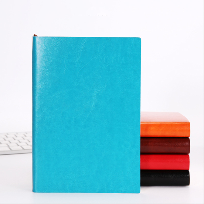 Ultimate SaleThick Notebook Diary Leather Business Large Soft Copy A5 A6 B5 Three-Sizes 4-Styles 5-Colors