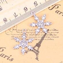 28 шт. Подвески снег Снежинка 23x17 мм фотоэлемент, ВИНТАЖНАЯ фотография, DIY для браслета ожерелья