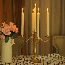 Boda, cena con velas vela titular de la decoración de la mesa de candelabros centro de mesa bodas mesa centro de mesa