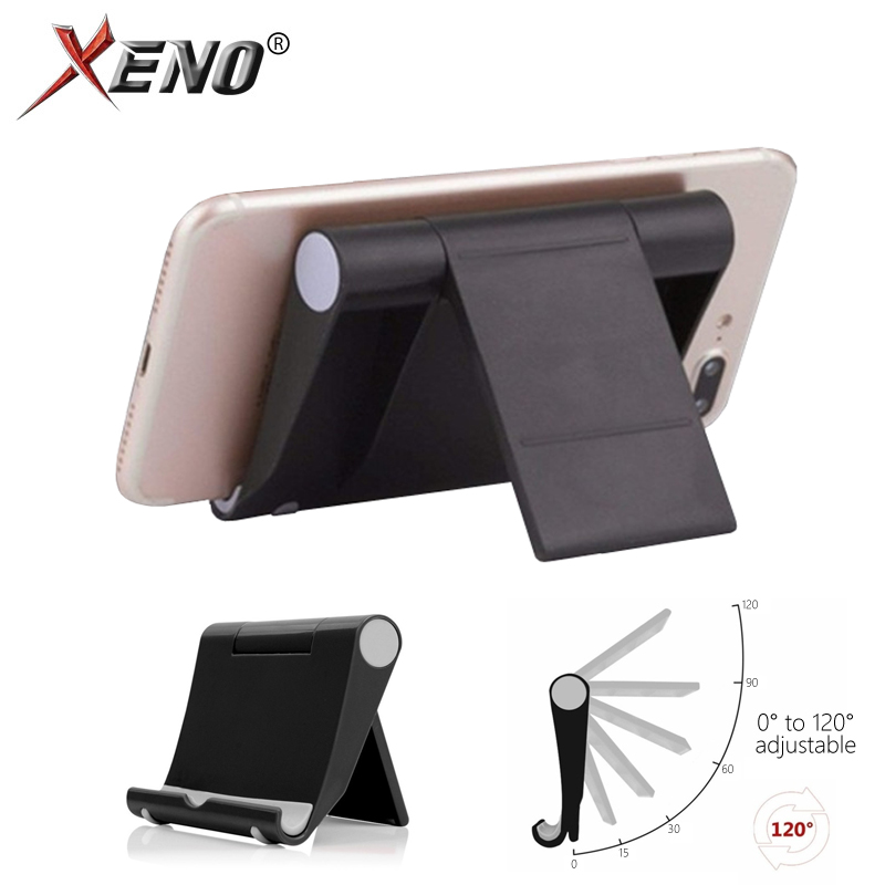 Mobile Phone Desk Stand 5 Colors Adjustable Phone Holder Tripod Foldable Universal Non-slip Plastic Phone Table Holder Stand