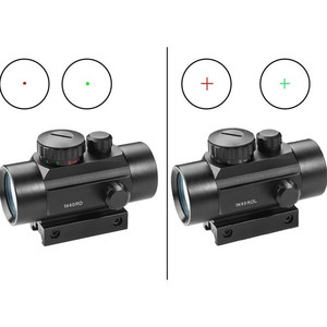 1X40 Red Green Dot Sight Rifle Scope Hunting Collimator Sight Tactical Hunting Riflescope 11/20MM Mounts Rail Mount Telescope