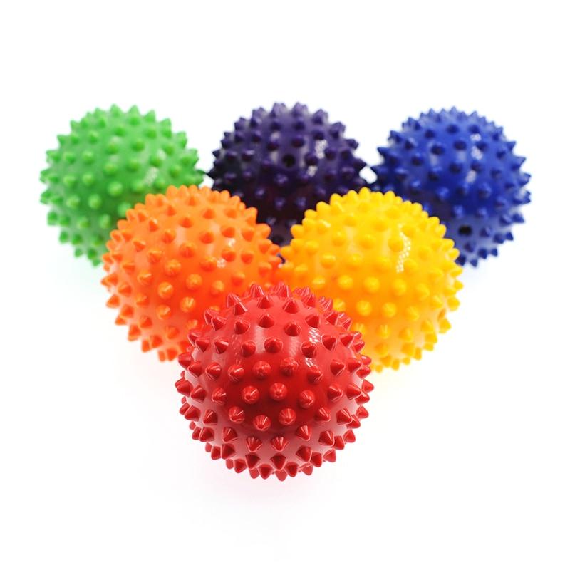 Прочный ПВХ массажный мяч с спицами, триггерный мяч для спорта, фитнеса, снятия боли в ступнях, для снятия подошвенного фасциита, 7 см, мячи дл...