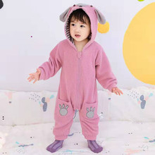 Baby Cute Cartoon Rompers Long Sleeve Newborn Boys Jumpsuits Outfits Autumn Infant Girls & autumn Winter Warm Onesies