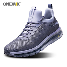 ONEMIX Men's Running Shoes High Top Air Cushion Trail Sport