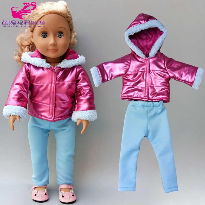 18 Polegada roupas de boneca casaco de pele blusão leggings para 43cm bebe nascido boneca jaqueta roupas de inverno roupas de boneca do bebê