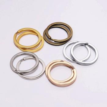 10Pcs/Lot 25 28 30 mm Bronze Gold Color Keyring Split Ring Plated Key Ring For DIY Llaveros clasp Findings Jewelry Making 10pcs lot 25 28 30mm gold round key ring llaveros clasp findings key chain split ring plated key ring for jewelry making