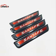 Car Styling Sticker For Hyundai Santafe 2020 Santafe Auto Accesories Door Sill Stainless Steel Scuff Plate Protector Cover Strip for car sticker hyundai santafe 2019 accessories stlyling staninless steel door sill protector welcome pedal scuff plate trim