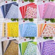 Tecido de algodão impresso pacote pano diy artesanal pano costura estofando tecidos bordado retalhos tecido acessórios 25x25cm