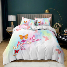 3D Print Spring Butterfly Bedding Set Bedroom Home Decor Fashion Bed Set Custom Pillowcase Soft Duvet Cover Queen King Single