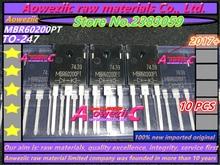 Aoweziic 2017 + 100% original importado novo mbr60150pt 60a 150 v mbr60200pt 60a 200 v a 247 diodo schottky