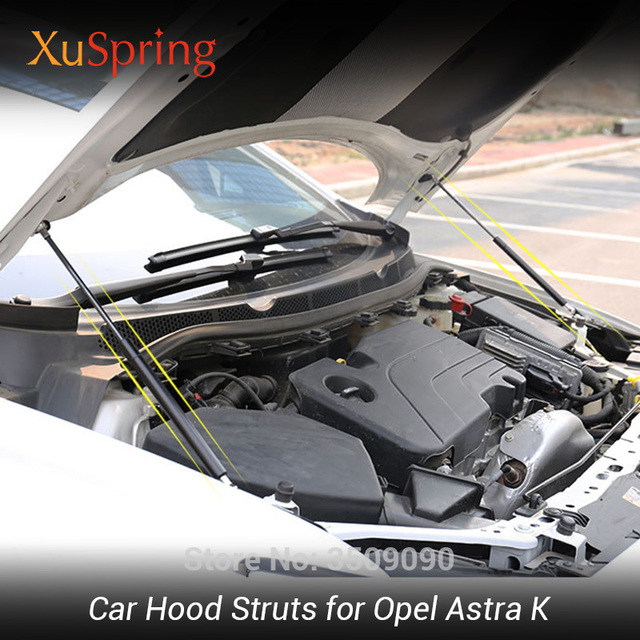 Car Bonnet Cover Lifter Support Hydraulic Rod Spring Shock Strut Bars for Opel Astra K Vauxhall Holden Astra 2015 2019 MK7