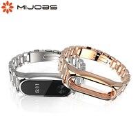 Cinturino per Xiaomi Mi Band 2 bracciale braccialetti in metallo per orologi intelligenti Xiomi Miband 2 acciaio inossidabile senza viti Correas Bend2