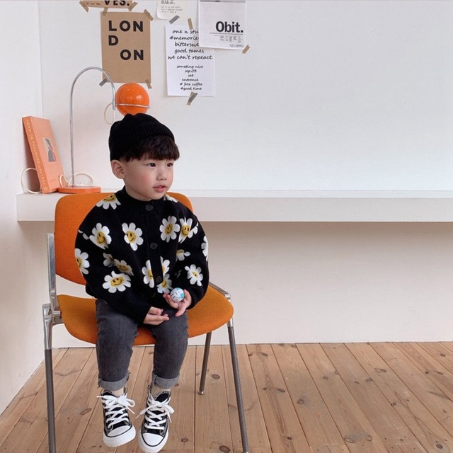 2020 Autumn New Arrival Girls Fashion Floral Sweaters Kids Korean Design Cardigans  Girl Cardigan 2