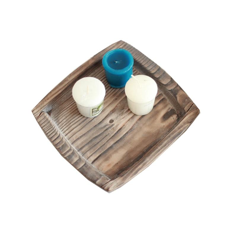 Plateau en bois pour Sushi | Plateau rond écologique Long en bois massif fait à la main, plateau de gâteau Fruits salle de Service de Dessert, plateau en bois pour Sushi, plateau de fête en bois