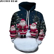 ZOOTOP BEAR Brand Casual Fashion 3D Hoodies Christmas Sweatshirts Sport Hoodies For Men White Bearded Old Man(China)