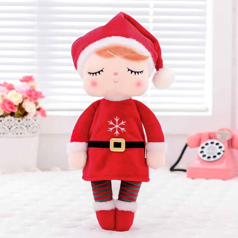 Metoo Plush Toys Angela Christmas Dolls With Box Dreaming Girl Plush Rabbit Stuffed Gift Toys For Kids 1 Pcs