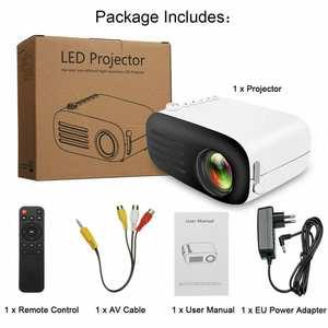 Led-Projector Cinema Portable YG200 Mini HDMI Full-Hd 1080P 3D USB 7000 VGA Handheld