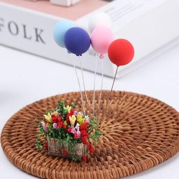 1 Uds. 112 escala Miniatura flor con jarrón casa de muñecas accesorios Mini Jardiniere dormitorio escena decoración muñecas casa muebles