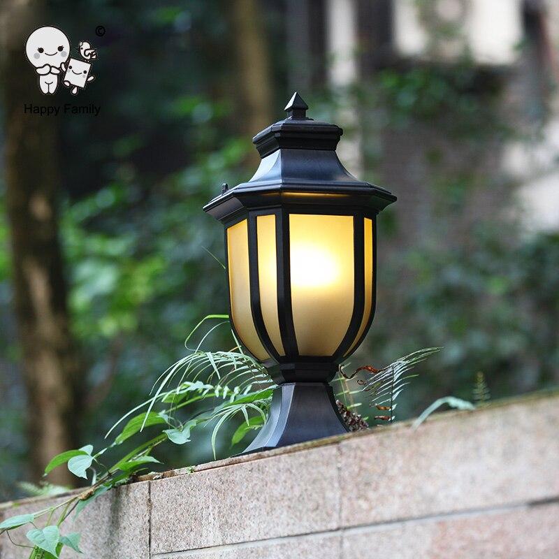 Extérieur étanche en aluminium métal paysage luminaire moderne Vintage Art déco jardin colonne pilier pôle lampe E27 E26 ampoule