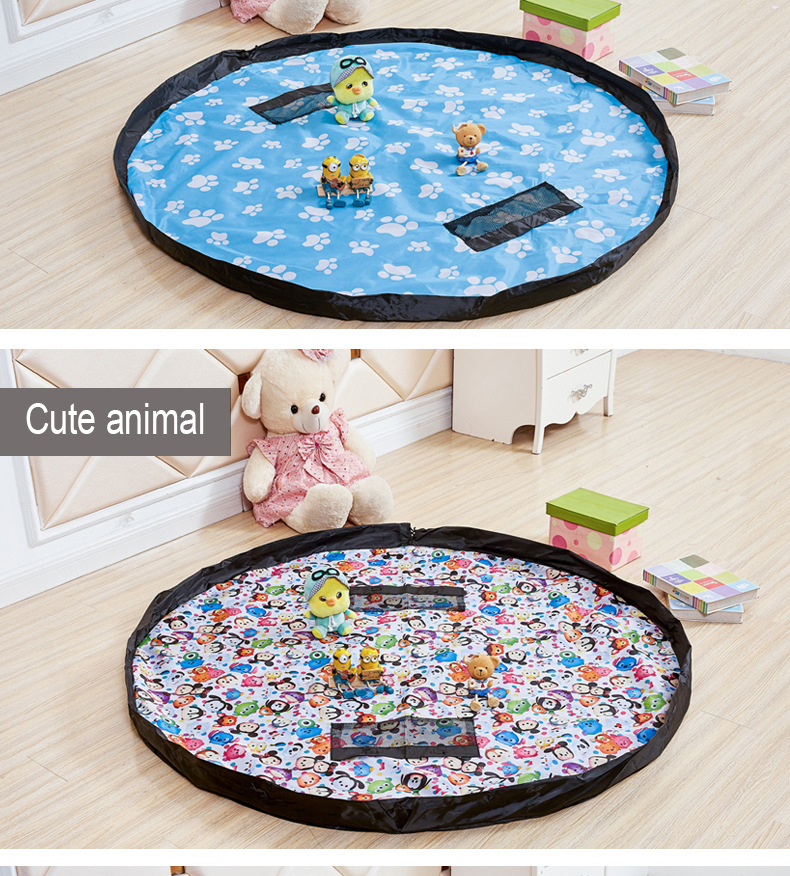 New Children's Hand Carpets Toy Fast Storage Bag Multicolor Game Carpet Orchestra Toy Organizer's Rope Bags Fashion Collection