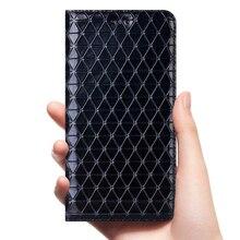 مغناطيس طبيعي جلد طبيعي محفظة قلابة كتاب غلاف الهاتف المحمول على لهواوي الشرف 20 برو لايت Honor 20 20Pro 64/128 GB