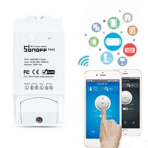 Image 3 - Sonoff TH10/16A akıllı Wifi anahtarı izleme kablosuz prob sıcaklık nem sensörü anahtarı Wifi akıllı ev uzaktan kumanda
