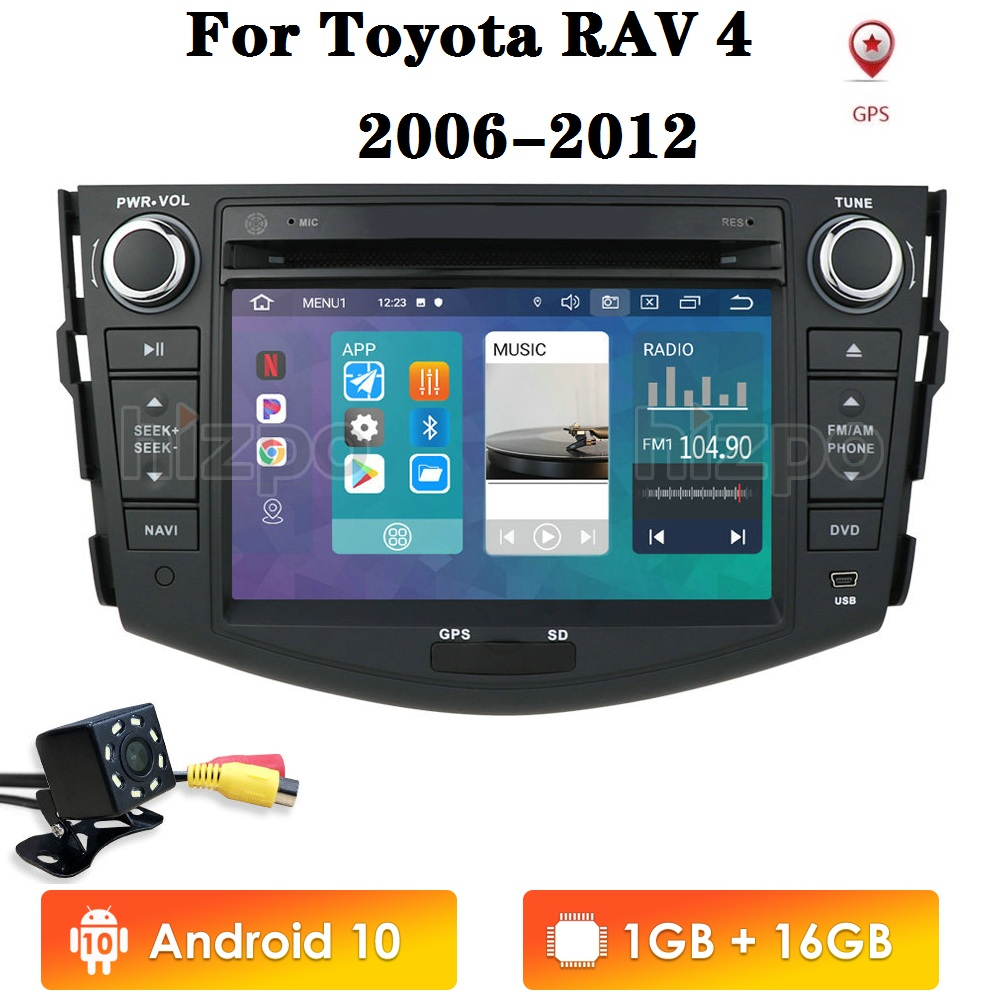 2din Android 10 Car DVD Player for Toyota RAV4 2006 2007 2008 2009 2010 2011 2012 Car Radio GPS Navigation Player Multimedia image