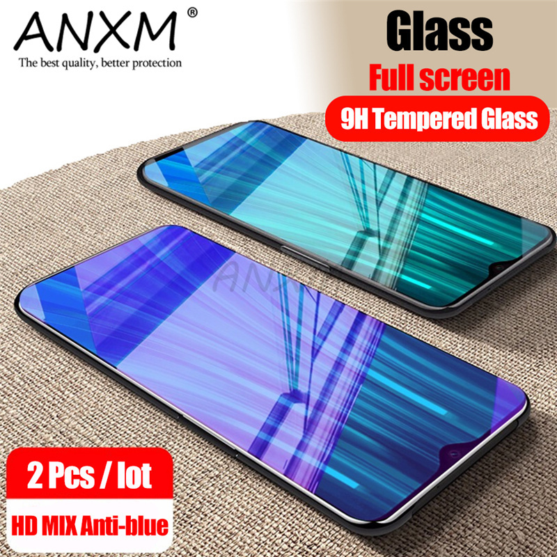 2Pcs Full Tempered Glass For Xiaomi Redmi Note 8 7 Pro Screen Protector 9H Anti Blu-ray Toughened Glass For Redmi Note 8 7 Pro