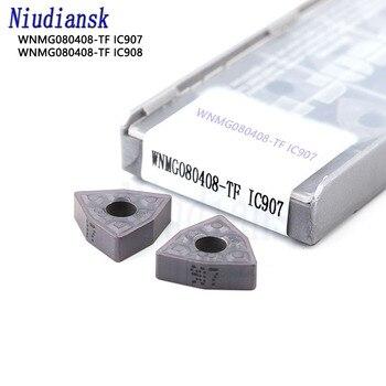 10Pcs Hard Alloy WNMG080408 TF IC907 IC908 External Turning Tools Carbide insert Lathe cutter Tool WNMG080408 CNC turning insert