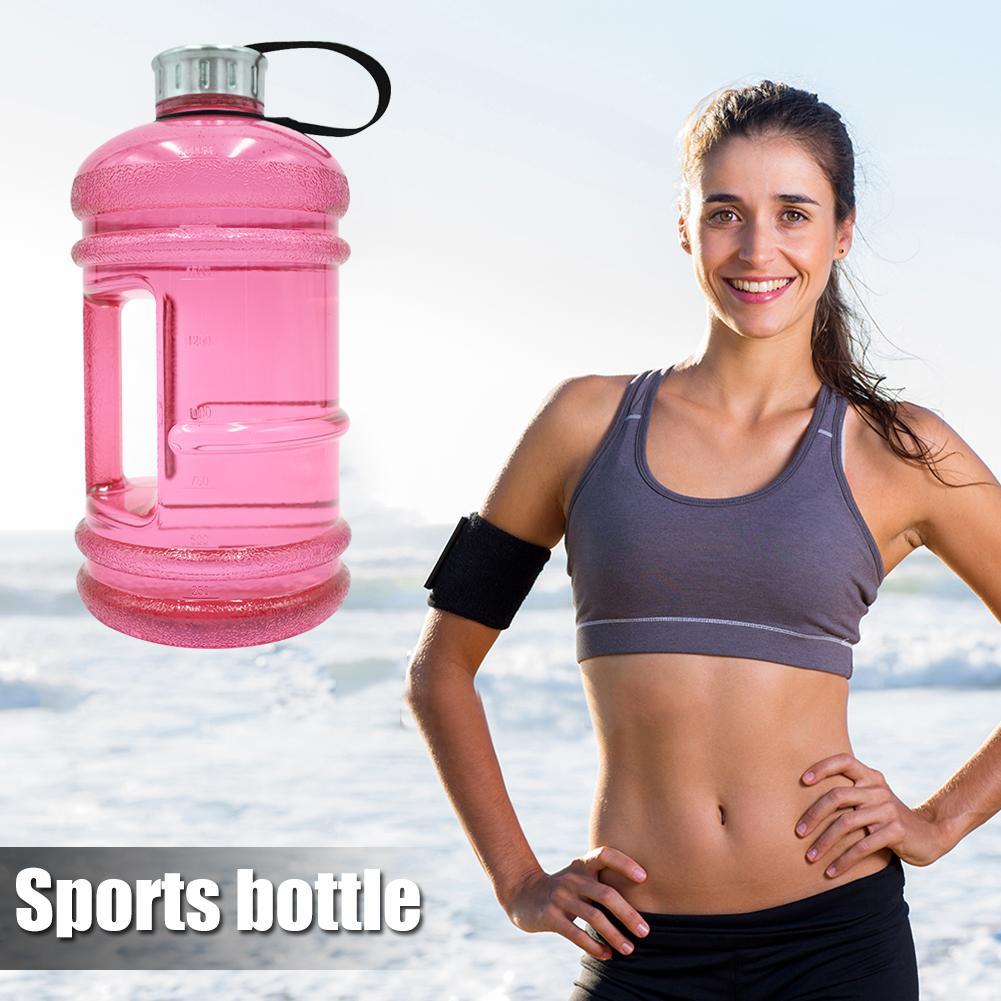 Прочный Спорт Бутылки Изящный Дизайн 2,2 л Вода Бутылка ПЭТГ BPA Бесплатно Ручка Чайник Пить Бутылка для Тренажерного зала Фитнес