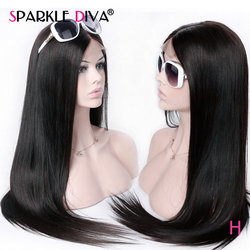 Peluca Frontal de encaje 360, peluca Frontal recta de encaje, peluca larga y pelucas de cabello humano corto para mujeres negras, parte libre, peluca de encaje brasileña Remy
