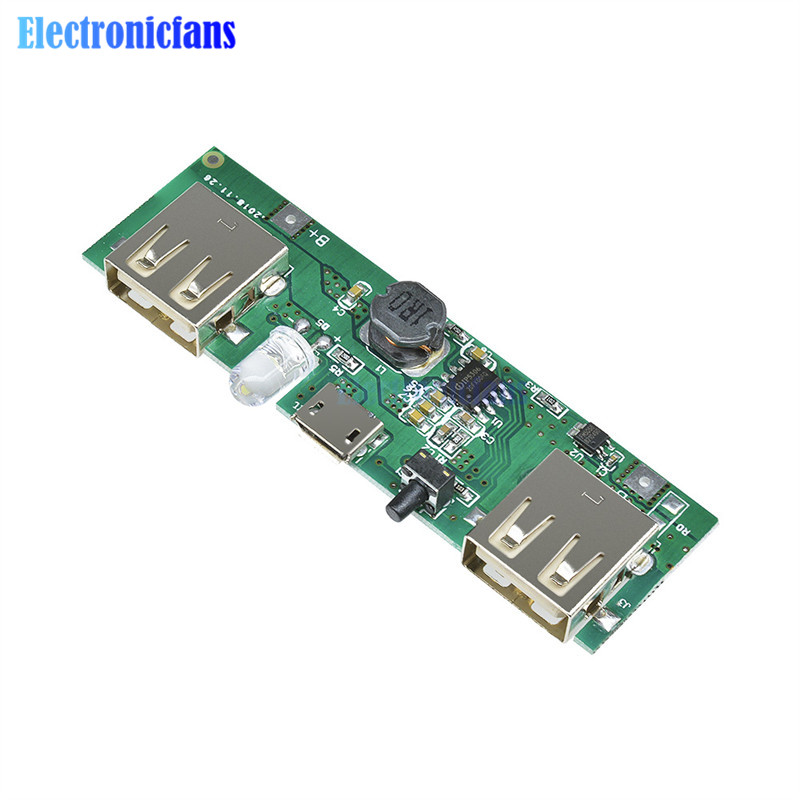 5V 1A 2A Mobile Power Bank Charger Control Module Micro USB Polymer Lithium Battery Charging Board Step Up Software Version