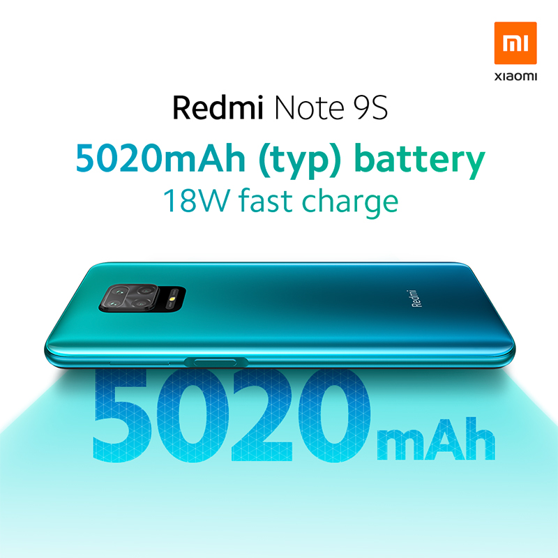 "In Stock Global Version Xiaomi Redmi Note 9S 6GB 128GB Snapdragon 720G 48MP AI Quad Camera Note 9 S 5020mAh 6.67"" FHD+ Screen"