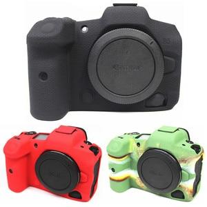 Image 2 - Silikonowe lustrzanka cyfrowa obudowa pokrowiec torba dla Canon EOS R6 R5 R RP M50 80D G7X III kamery cyfrowe