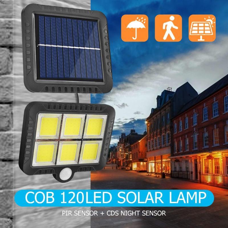 2019 NEW COB 120 LEDs Solar Wall Light Motion Sensor Lamp Solar Recharged IP65 Path Street Night Lighting Solar LED Wall Lamp