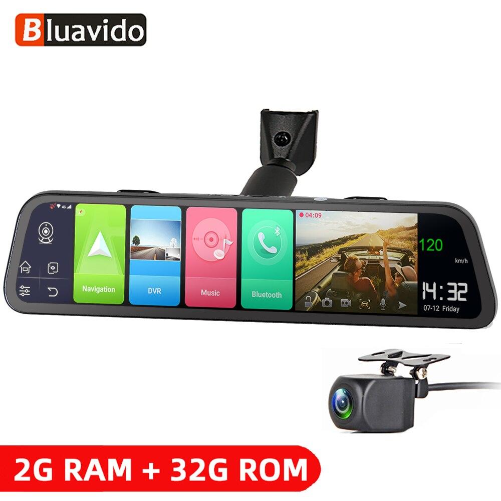 Зеркало-видеорегистратор Bluavido, 4G, Android 8,1, 2 Гб ОЗУ 32 Гб ПЗУ, GPS-навигация, зеркало заднего вида 1080P, видеорегистратор
