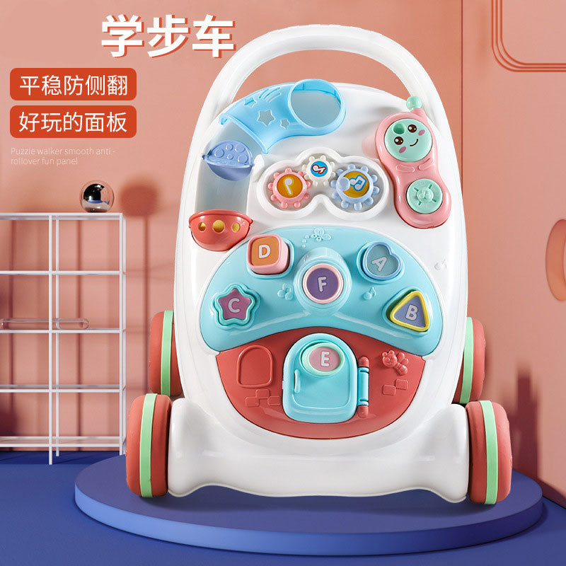 Wholesale 6-18 Months Baby Walker Anti-rollover Multi-functional Early Education Toy