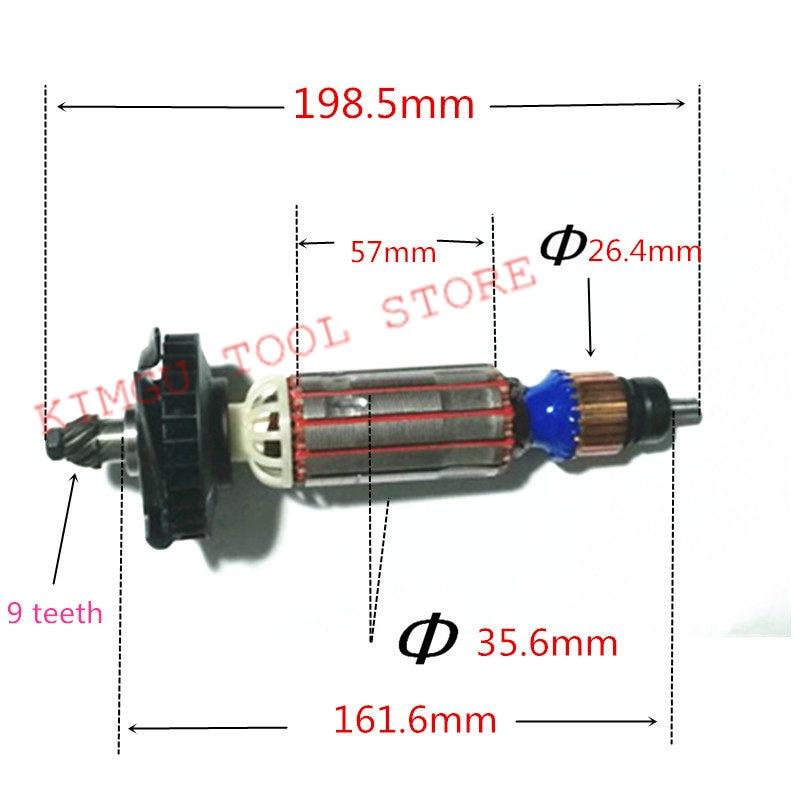 AC220-240V Rüstung Rotor Anker für Makita 9553HB 9553HN 9554NB//9553HN//9555HN